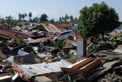 Indonesia earthquake and tsunami disaster
